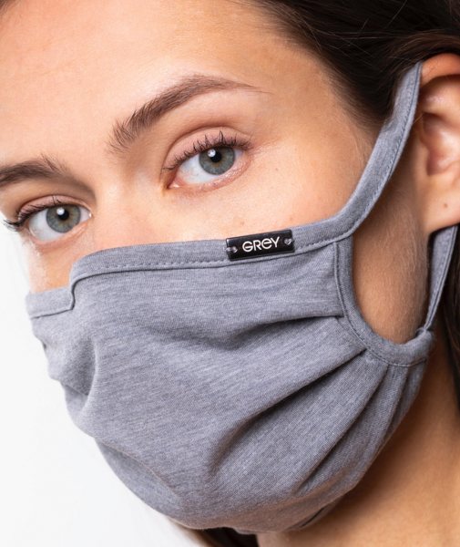 """Grey """"Seven"""" Face Mask from Vitadylan™"""