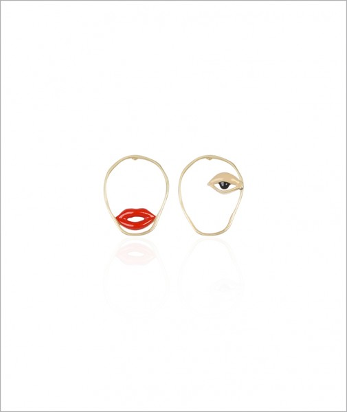 Lips & Eye Earrings