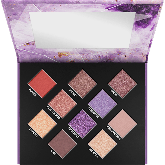 Crystallized Amethyst Eyeshadow Palette - vegan