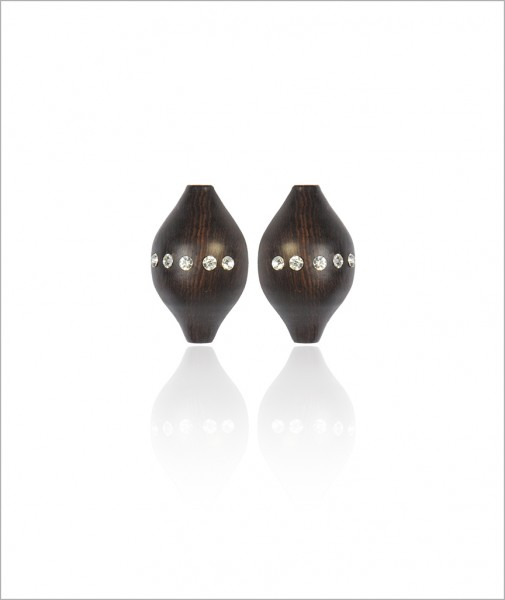 Ebony Earrings with Crystals