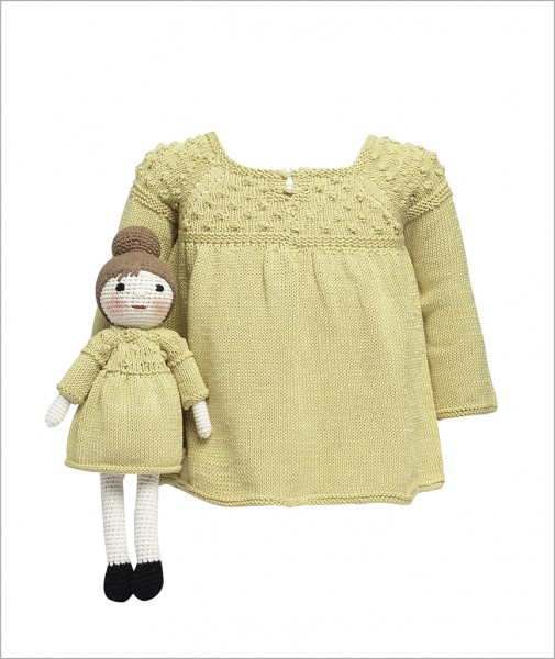 Handknitted Dress with Doll
