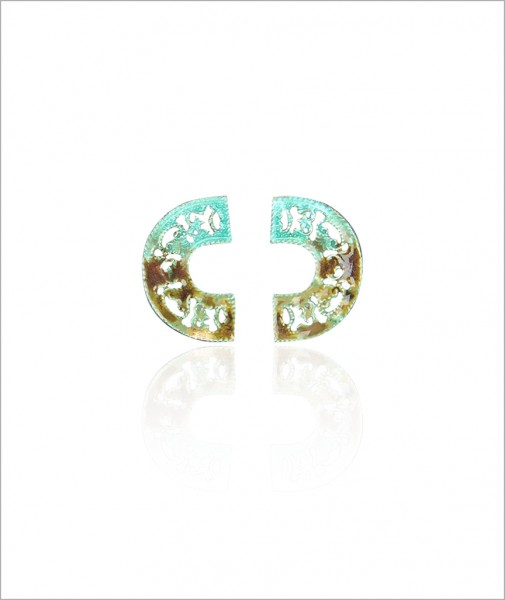 Enameled Earrings Turquoise
