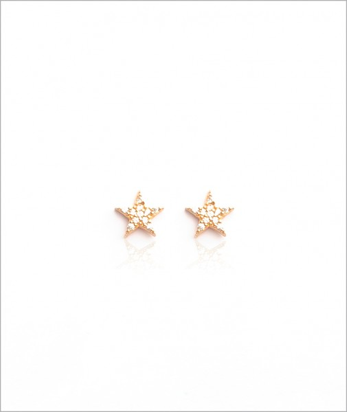 Designed with stones Star Stud Earrings