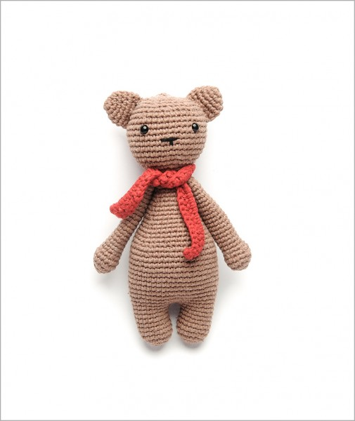 Teddy Bear Red Scarf