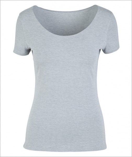 "Grey ""Four"" – First Layer T-shirt (Tight, Seamless)"