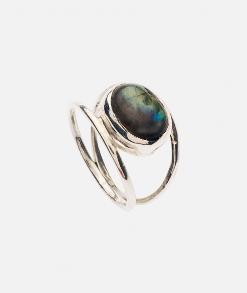 Labradorite Scallop Ring