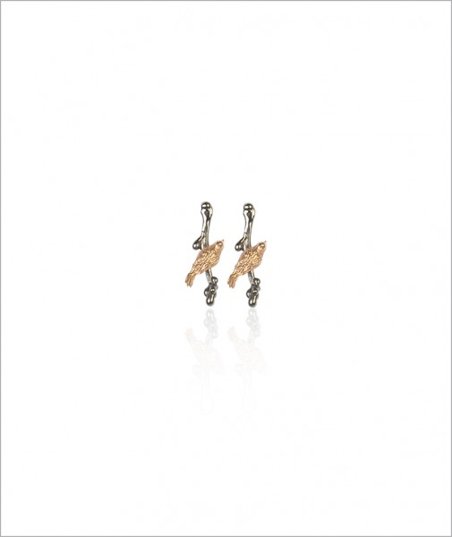 Lucky Bird Earrings Gilded