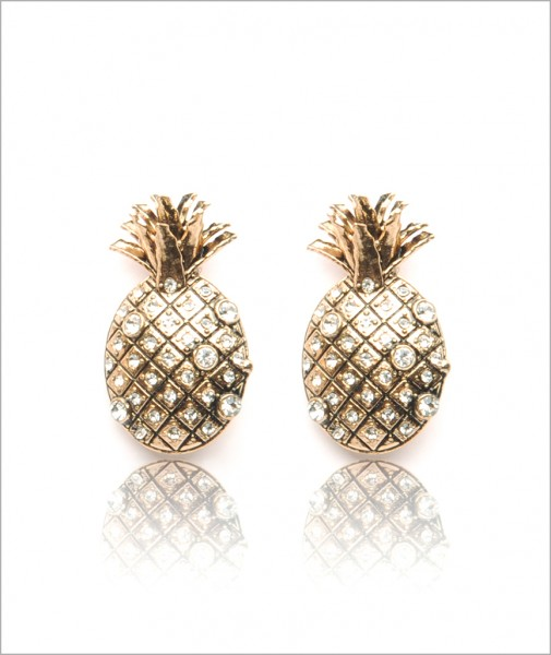 Bronze Pineapple Earrings