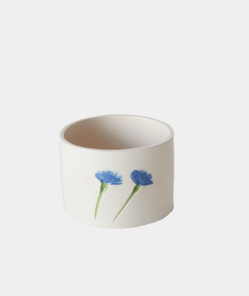 Blue Daisy Becher