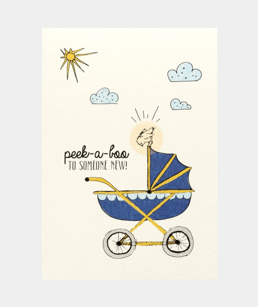 Peek A Boo To Someone New Baby Card