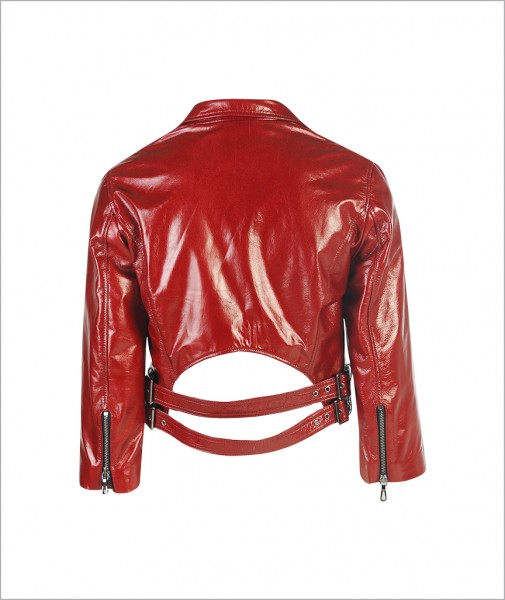 Biker Jacket Dark Red