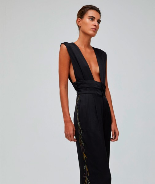 Mirto Jumpsuit with Embroidery