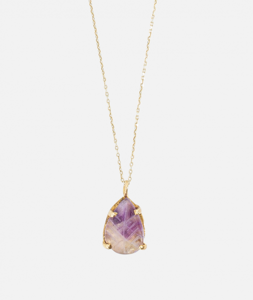 Amethyst Leaf Necklace
