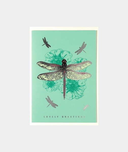 Lovely Greetings Dragonfly Turquoise