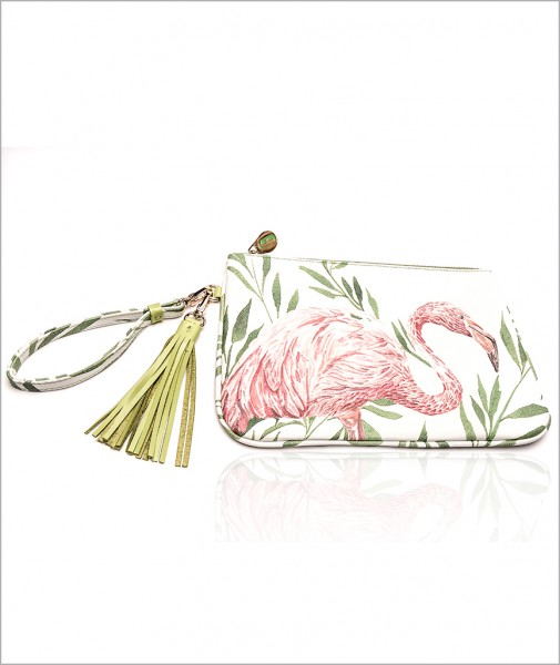 Dalida Clutch In Flamingo