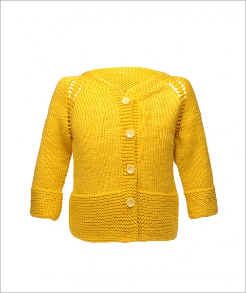 Cardigan Lime Yellow