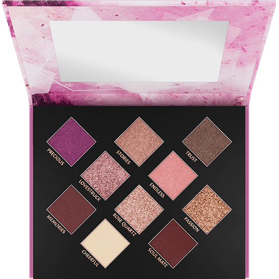Crystallized Rose Quartz Eyeshadow Palette - vegan