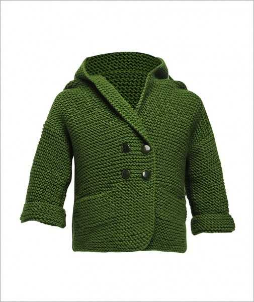 Cotton Cardigan Green