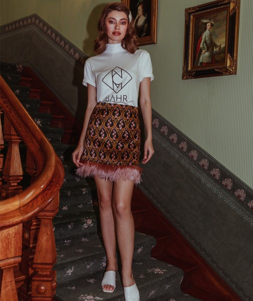 Ophelia Mini Skirt With Feathers