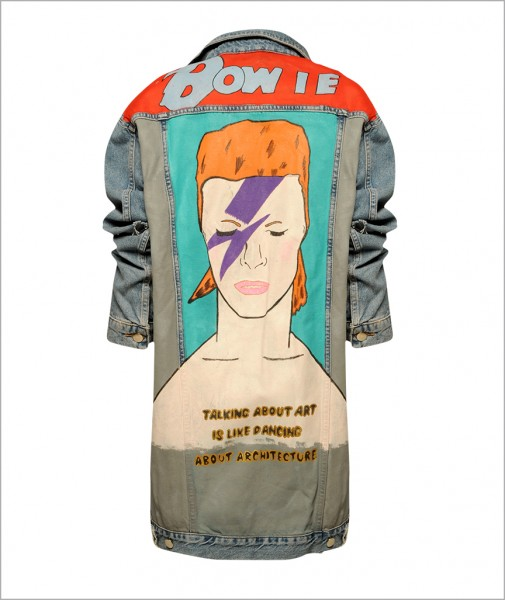 Denim Jacket Bowie-Pop Art