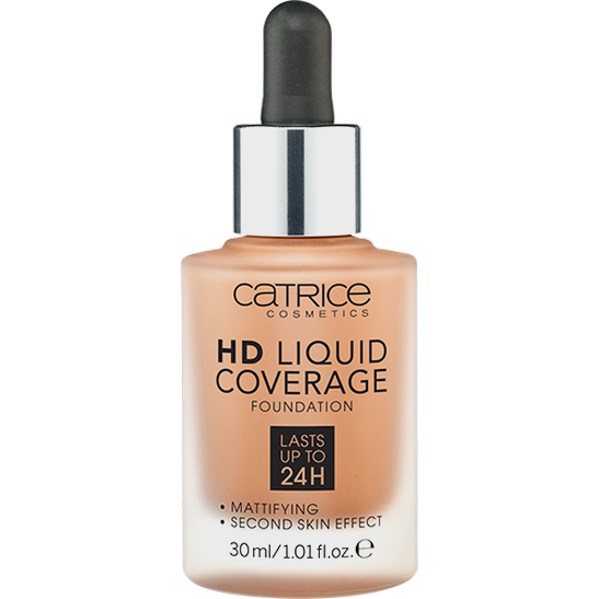 HD Liquid Coverage Foundation latte macchiato beige - vegan