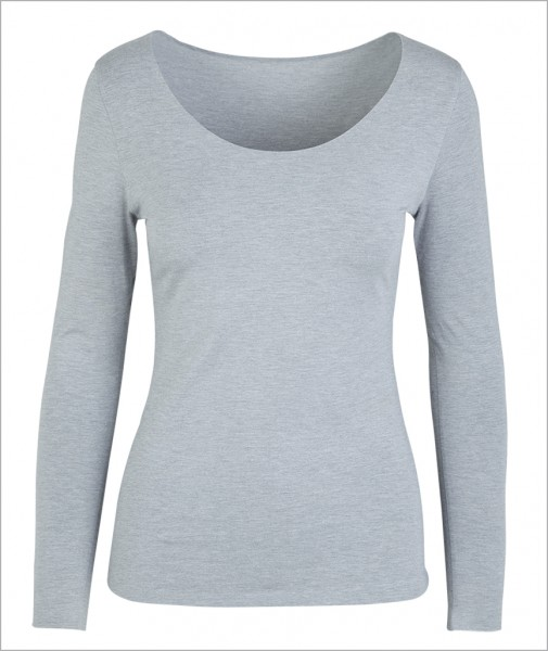 "Grey ""Five"" – First Layer Long Sleeve Shirt (Tight, Seamless)"